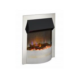 DimplexPortree Chrome Optiflame 3D Electric Inset Fire